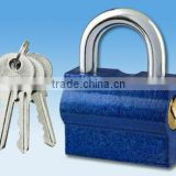 Horizontal open iron padlock