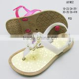 High quality fashion PCU metallic color vamp ladies&girls clip-toe sandals