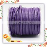 Purple fashion leather cord, jewelry round sheepskin leather cord,popular bracelet string