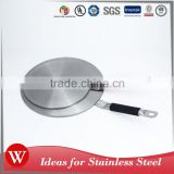 Kitchen accessories stainless steel induction interface heat diffuser plate with silicone handle
