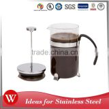 Mirror finished 1000ML glass french press coffee tea maker