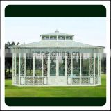 China Manufacturer Hebei Factory Galvanized Decoration Wrought Iron Gazebos For Outdoor