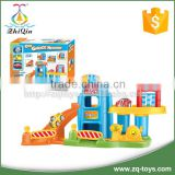 Good quality plastic car parking garage toy for children