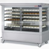 Quickly Hot Cake Stainless Steel Glass Warmer Food Display Cabinet