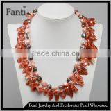 Fashion pearl necklace/keshi pearl necklace