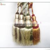100% polyester traditional double curtain tiebacks in curtain fringe, curtain fasten tassel tiebacks, tie back