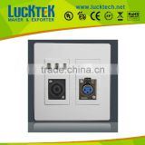 120 type Audio/Speaker/Fiber optic Wall plate