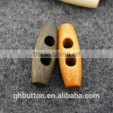 wood 2-hole toggle button for coat