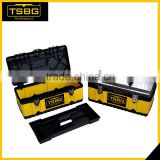 Plastic heavy duty trolley tool case box , metal tool box