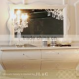 JM05-01 Rectangle Mirror Pure White Color for Luxury Bedroom Sets-JLC Luxury Home Furniture