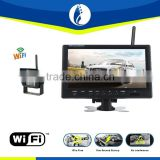 "WIFI wireless 9"" TFT LCD Color 2 Video Input Car RearView Headrest Monitor DVD VCR Monitor With Remote and Stand & Support Rota"