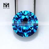 Jewellery Faceted Round 12.0mm Blue Topaz Loose CZ Fire Polished Bead