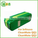 14.4V 2500mAh battery for Infinuvo CleanMate QQ1, QQ2 for Vacuum Cleaner Battery
