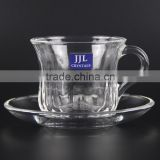 JJL CRYSTAL MUG JJL-2402-1 & 7012 TEA CUP SET COFFEE CUP MILK TEA DRINKING GLASS WATER TUMBLER HIGH QUALITY LEAD FREE HOT SALE