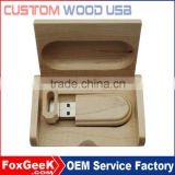 Custom engraving logo wood usb flash drive wooden USB memory sticker 2.0 4GB/16GB/32GB/64GB/ with box