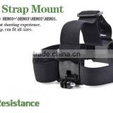 Vented Head Helmet Strap Mount Adapter for GoPro HD Hero 2 3 Outdoor Surfing