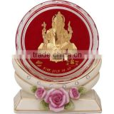 crystal paper weight inside 24k gold foil classical ganesh design selling in cheap price 2015