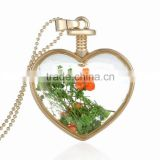 2016 New Arrival Nice Accessories Fashion Jewelry Real Dried Flower Jewelry Necklace