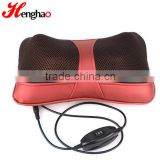 2016 NEW fashion mini car massage pillow red 12V heating pad rolling massager