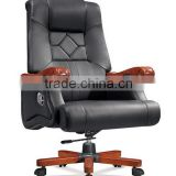 Luxury Italian design black genuine leather executive office chair