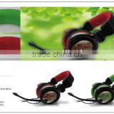 VCOM colorful big head band headphone with mic
