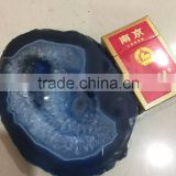 Wholesale large natural polished blue agate slice,agate stone slices