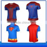 2016 Aofeite Compressed Sport Gym Running T Shirt/ Superhero T-shirt Avengers Marvel Super Heroes Superman Mens