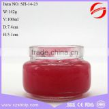 100ml high quality glass empty cosmetic cream jar for face care with black screw cap