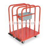 4-Wheel Adjustable left hand drive mini Divider Panel Hand Truck Carriers
