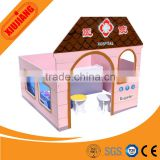 Kids recreational and educational toy diy wooden dollhouse