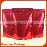 stand up black mylar foil bag black glossy ziplock bag