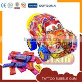 gum base car tattoo chewing gum