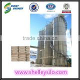 Assembly steel wheat flour storage silos