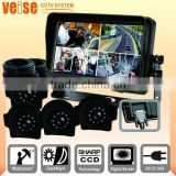 Automobile Rear View Camera System with TFT LCD monitor + 4 CCD camera + 15M extension cable For Bus
