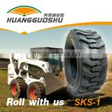Tire Manufacture of pneumatic skid steer loader tire used for wheel rim 10-16.5 12-16.5 bobcat tires