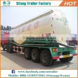 Tri-axle v type 60 cbm dry bulk transport semi trailer cement carrier semi tanker trailers