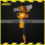Stainless Steel construction safety Electric Chain Hoist with single speed 1.8m/min