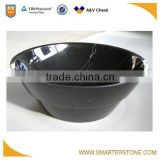 Black marble small art sink for decorating