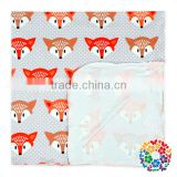 2017 Fox Prints Baby Wrap Swaddle Blanket Muslin Baby Blankets Boutique Cheap One Layer Milk Silk Swaddle Wrap