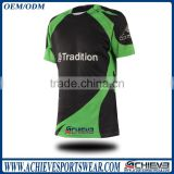 2017 fashion colorful custom rugby jersey with sublimation