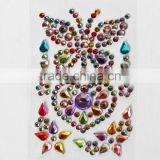 Colorful Butterfly Heart Stick On Self Adhesive Gems Rhinestones,DIY Craft Acrylic Crystals