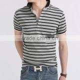 custom hot selling lowest price plain casual black and white stripe mem's t-shirt wholesale for sale