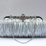 R0022H Wholesale Luxury satin evening clutch bag lady evening bag