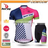 BEROY 2016 top fashion men's short sleeve cycling jersey and padded cycling shorts set,outdoor sports/road/mountain bike suits