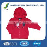 OEM Top Quality Baby Girl Spring Zipper with hoodies Coat ,Brand Customized Manufacturer For Kids clothes