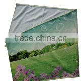 digital sublimation print overlocking stitch polyester/polyamide microfiber suede sport towel