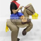 HI CE best selling cheap inflatable animal costume for adults battery operated ride on horse