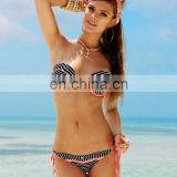 Striped Bikini with push up swim top Swimwear