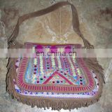 Handmade SUEDE LEATHER BANJARA HAND BAG
