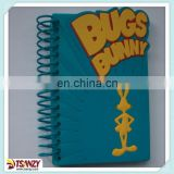 custom 3D soft pvc cover notebook